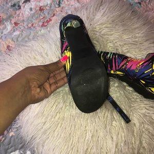 Shoe Dazzle Shoes - Bright platform heels shoe dazzle